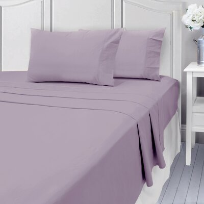 Andalusia 400 Thread Count 100% Cotton Sheet Set Size: Full/Double, Color: Lilac