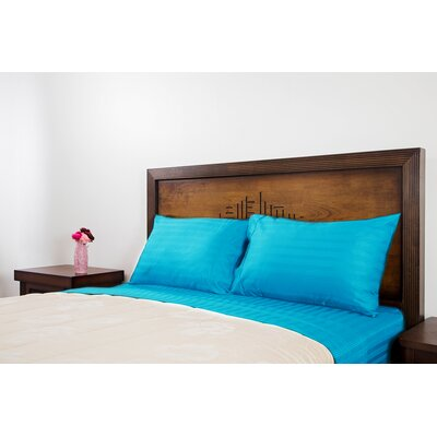 Brownville 400 Thread Count 4 Piece 100% Cotton Sheet Set Size: Full, Color: Turquoise