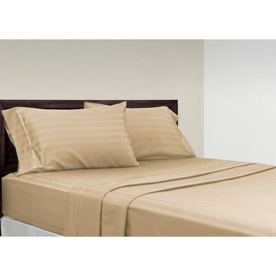 Brownridge 400 Thread Count 4 Piece 100% Cotton Sheet Set Size: Full, Color: Taupe