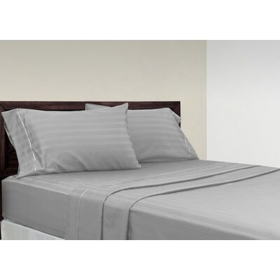 Brownridge 400 Thread Count 4 Piece 100% Cotton Sheet Set Size: King, Color: Platinum
