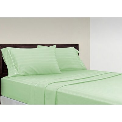 Brownridge 400 Thread Count 4 Piece 100% Cotton Sheet Set Size: King, Color: Mint