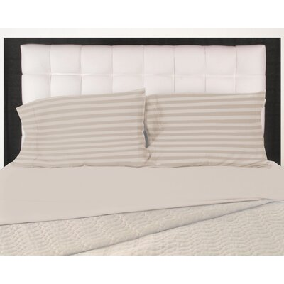 320 Thread Count 100% Cotton Pillow Case Size: Queen, Color: Hummus