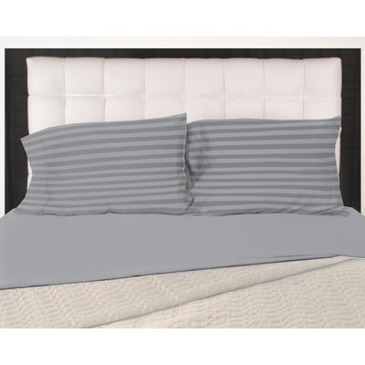 320 Thread Count 100% Cotton Pillow Case Size: King, Color: Charcoal