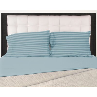 320 Thread Count 100% Cotton Pillow Case Size: King, Color: Cameo Blue