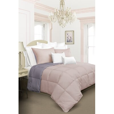Kavanaugh 2 Piece Comforter Set Color: Light Pink, Size: Twin