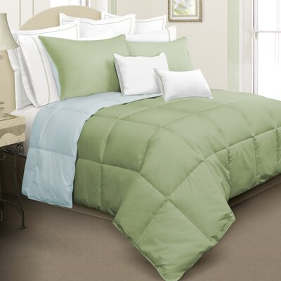 Nina Reversible Down Alternative Comforter Set Color: Green, Size: Queen