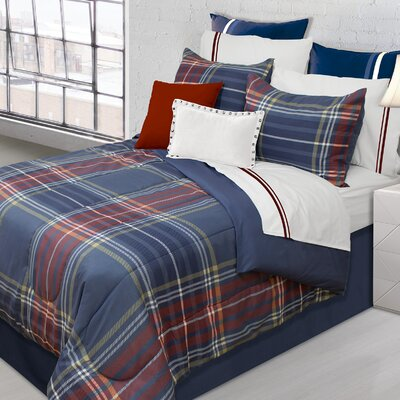 Hudson Plaid 3 Piece Comforter Set