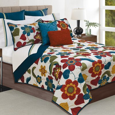 Alpharetta 3 Piece Quilt Set Size: Queen