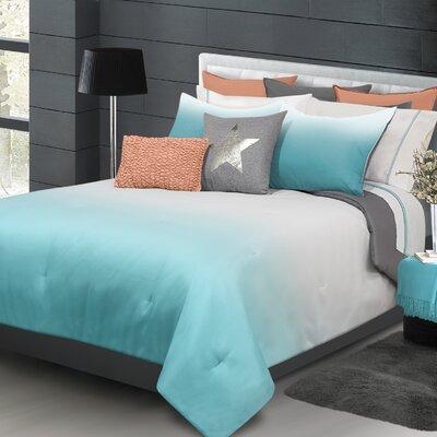 Ombre Comforter Set Color: Blue, Size: King