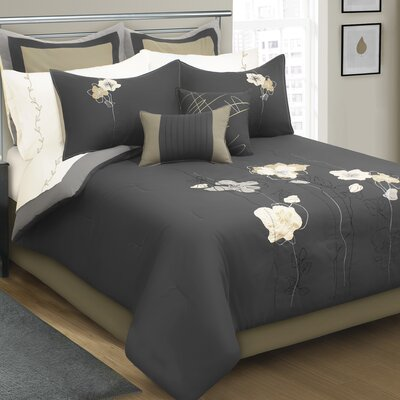 Bernadette 8 Piece Comforter Set Size: King