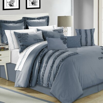 Bianca 7 Piece Comforter Set Size: Queen