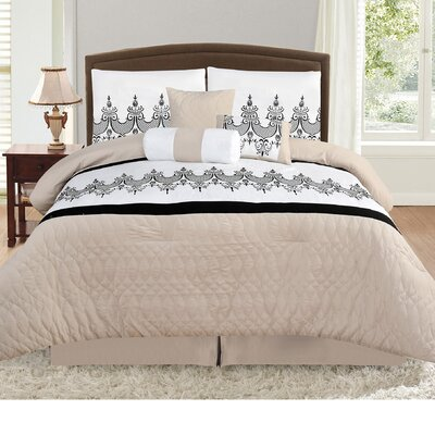 Prestwood Nature/Floral 7 Piece Comforter Set Size: King
