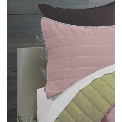 Jennie Reversible Quilt Set Color: Pink, Size: King
