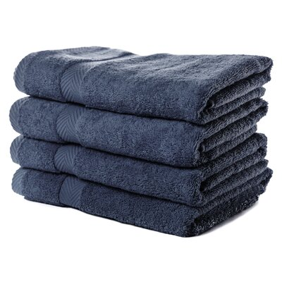 Luxurious Bath Towel Color: Navy Blue