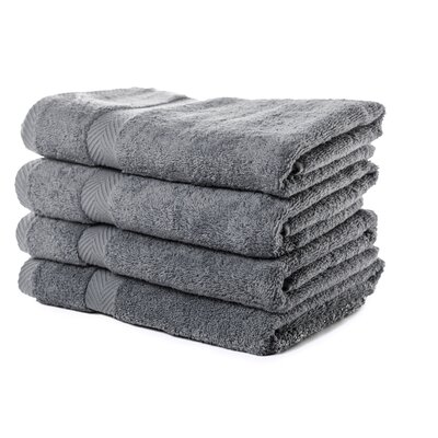 Luxurious Bath Towel Color: Charcoal
