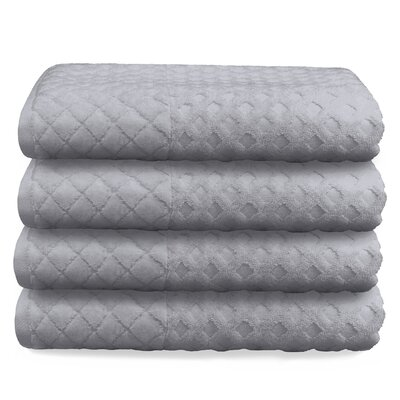 Luxurious Textured Oversized Bath Towel Color: Gray
