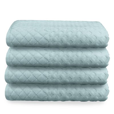 Luxurious Textured Oversized Bath Towel Color: Blue