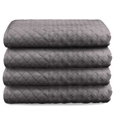 Luxurious Textured Oversized Bath Towel Color: Taupe