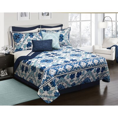 Hershel 3 Piece Quilt Set Size: King