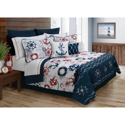 Castile 5 Piece Quilt Set Size: Full/Double