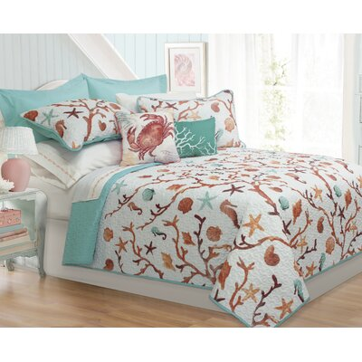 Brook Hollow 4 Piece Quilt Set Size: King