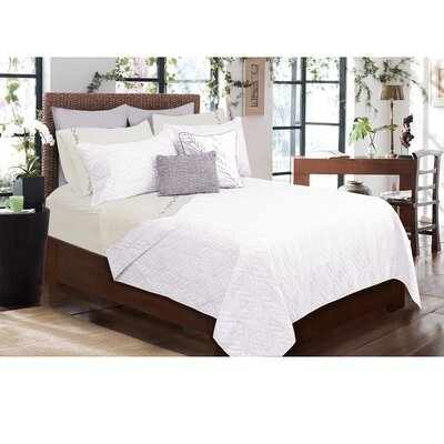 Sheena 3 Piece Quilt Set Size: Full/Double, Color: White