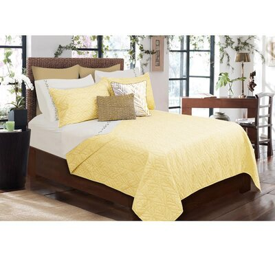 Sheena 3 Piece Quilt Set Size: King, Color: Pastel Yellow