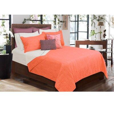 Sheena 3 Piece Quilt Set Size: King, Color: Orange