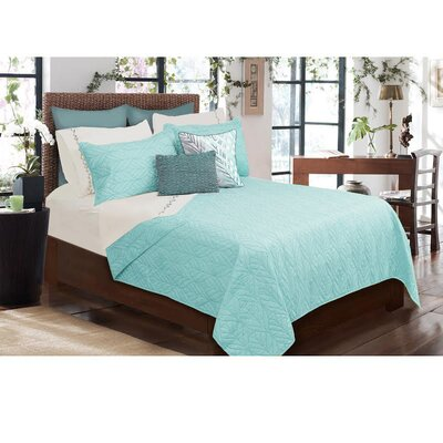 Sheena 3 Piece Quilt Set Size: King, Color: Light Blue