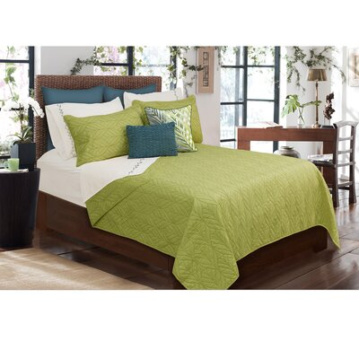 Sheena 3 Piece Quilt Set Color: Green, Size: King