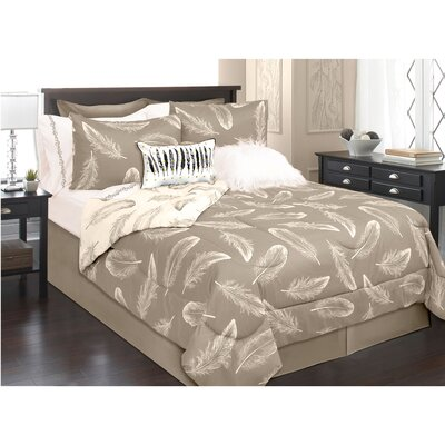 Roselle 2 Piece Comforter Set Color: Tan