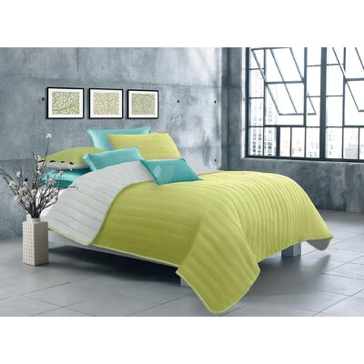 Ria 2 Piece Quilt Set Color: Lime Green, Size: Twin