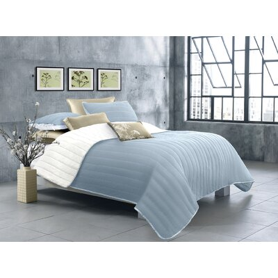 Ria 2 Piece Quilt Set Color: Gray, Size: King