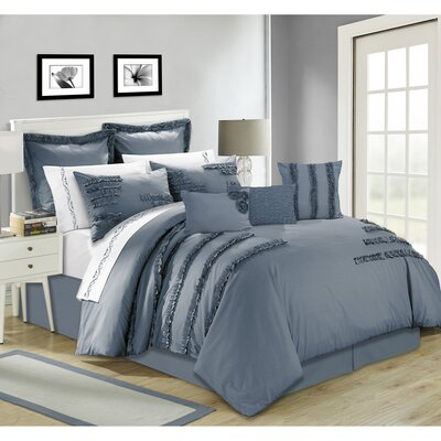 Maddison 7 Piece Comforter Set Size: King