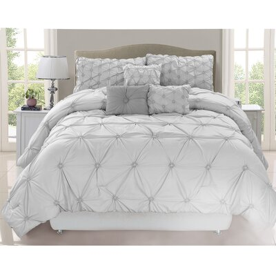 Blankenship 7 Piece Comforter Set Color: Gray, Size: King