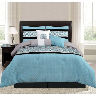Keeling 7 Piece Comforter Set Size: King