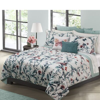 Temeka Printed Quilt Set Size: King