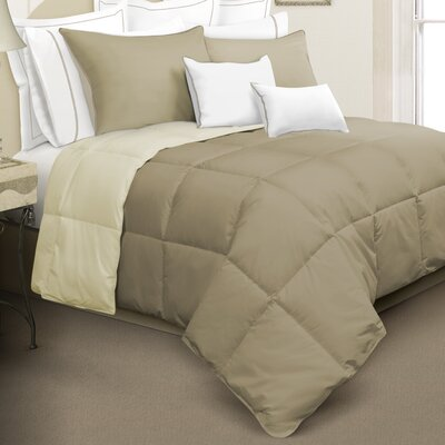 Kavanaugh 2 Piece Comforter Set Color: Beige, Size: Twin