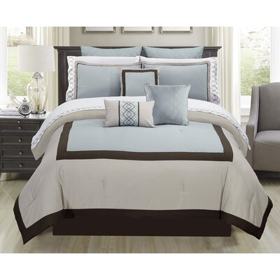 Parker 7 Piece Comforter Set Size: Full/Double