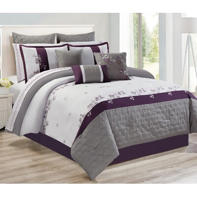 Peever 7 Piece Comforter Set Size: Queen
