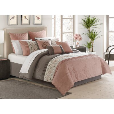 Hector 7 Piece Comforter Set Size: King