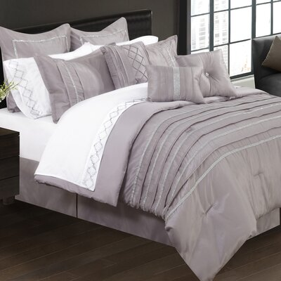 Mohit 7 Piece Comforter Set Size: King