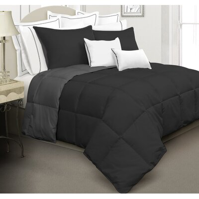 Kavanaugh 3 Piece Full/Queen Reversible Comforter Set Color: Black/Charcoal