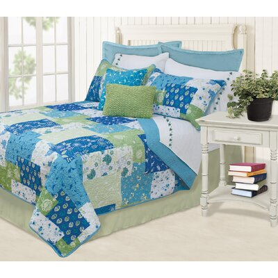 Sylvia 3 Piece Full/Queen Coverlet Set Color: Blue