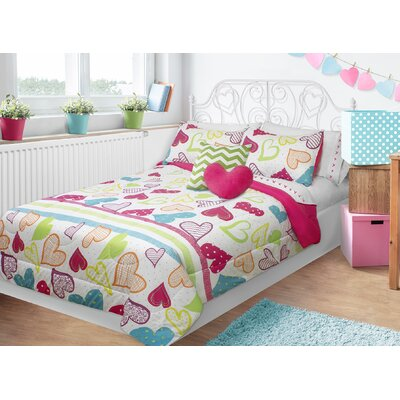 Alessandra Sweet Hearts Comforter Set Size: Double/Queen