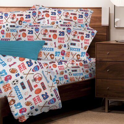 Mario Sports 3 Piece Microfiber Sheet Set