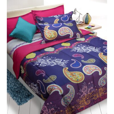 Roberson Comforter Set Size: Double/Queen, Color: Purple