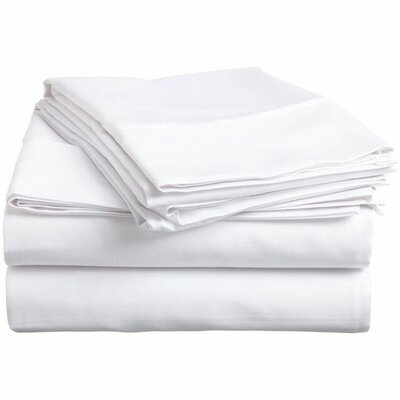 Wethersfield Ultra Soft Hypoallergenic 300 Thread Count 100% Cotton Sheet Set Size: King, Color: White