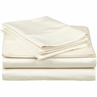 Wethersfield Ultra Soft Hypoallergenic 300 Thread Count 100% Cotton Sheet Set Color: Ivory, Size: King