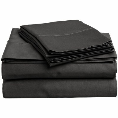 Wethersfield Ultra Soft Hypoallergenic 300 Thread Count 100% Cotton Sheet Set Color: Gray, Size: Queen